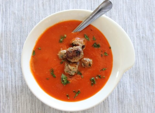 Tomato Meatball Soup Slow Cooker Hcg Diet Phase 2 Recipe